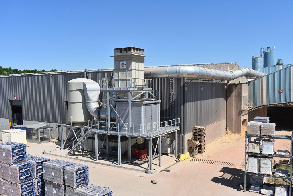 Keller Lufttechnik Benelux plaatste een ontstoffingsfilter bij Vandersanden in Lanklaar